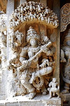 Hindu god, Chennakesava Temple, Somanathapura, Karnataka, India