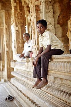 Visitors in Vitthala temple, Hampi, Karnataka, India