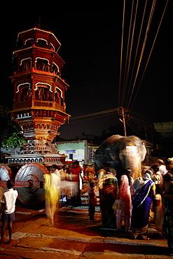 New moon celebrations, Virupaksha temple, Hampi, Karnataka, India