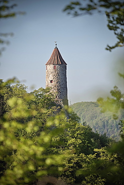 Observation tower, Geislingen, Swabian Alp, Baden-Wuerttemberg, Germany