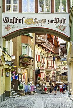 Roemerhofgasse pedestrian area, Kufstein, Tyrol, Austria