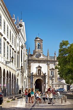 Town gate, Arco da Vila, Faro, Algarve, Portugal