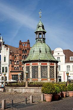 Marketsquare in Wismar, Baltic Sea, Germany, Europe