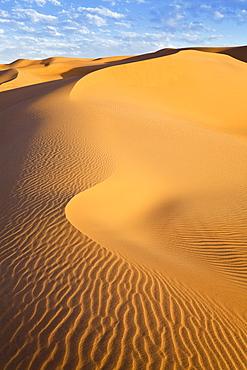 Ubari Sanddunes in the libyan desert, Sahara, Libya, North Africa