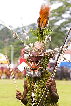 Man with mask at Singsing Dance, Lae, Papue New Guinea, Oceania