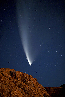 McNaught comet flying over the night sky, Patagonia, Argentina, South America
