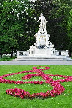 Mozart monument, castle garden, Hofburg Imperial Palace, Vienna, Austria