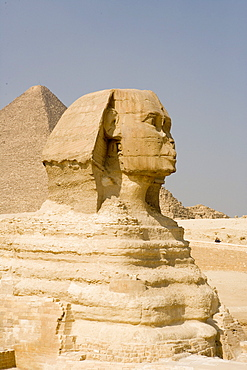 The Sphinx and the Cheops Pyramid, Pyramids of Giza, Kairo, Egypt