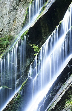 Water cascades in the canyon Wimbachklamm, Berchtesgaden, Upper Bavaria, Bavaria, Germany