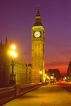 England, London, Big Ben, Houses of Parliament, dusk