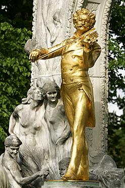 Johann Strauss memorial in Vienna, Austria