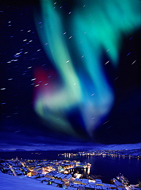 Aurora borealis near Hammerfest, Northern Norway, Norway
