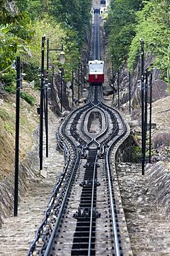 Penang Funicular Railway, Penang Hill, George Town, Penang, Malaysia, Asia