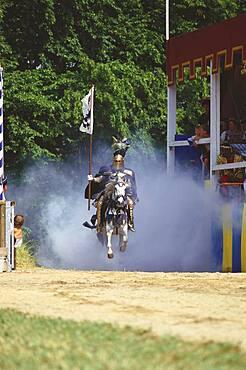 One knight on horse, Kaltenberger Ritterspiele, Upper Bavaria, Germany
