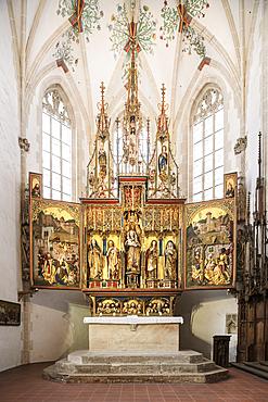 High altar in the Blaubeuren monastery, Alb-Donau district, Baden-Württemberg, Germany