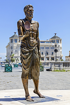 Archimedes statue, Syracuse, Sicily, Italy