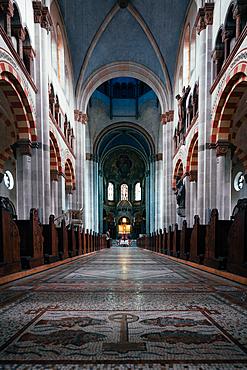 Interior shot of the St. Benno Church, Munich, Germany