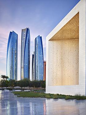 Sheikh Zayed Founder's Memorial, Etihad Towers, Abu Dhabi, United Arab Emirates