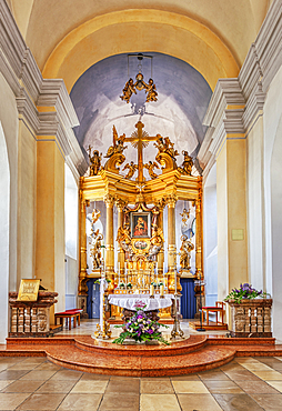 Altar room in the Mariahilf pilgrimage church, Passau, Bavaria, Germany