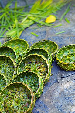 Braided basket made of leaves in Viñales, Cuba