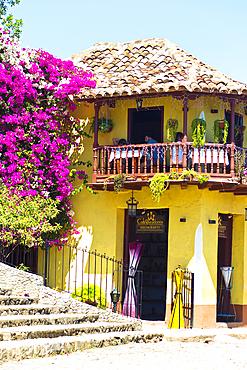 Entrance and terrace of a restaurant in Trinidad, Cuba