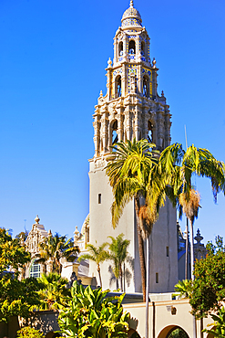 St Francis bell tower, Museum of Man, Balboa Park, San Diego, California, USA