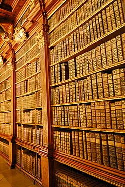 Library, Melk Abbey, Wachau valley, Lower Austria, Austria