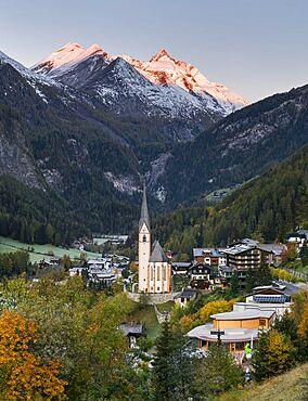autumnal Heiligenblut, Grossglockner, Carinthia, Austria