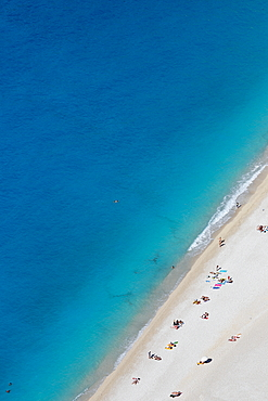 Myrtos beach is considered to be one of the most beautiful beaches on the island of Kefalonia. It is located on the west coast of the Ionian Islands, Greece