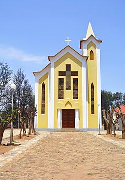 Angola; Huila Province; around Chibia; Jau Monastery; Monastery church