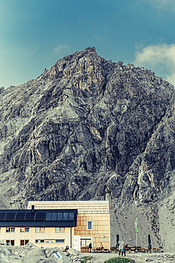 Totalphütte at Lünersee, Vorarlberg, Austria, Europe