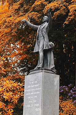 Lord Stanley Statue, Stanley Park, Vancouver City, Canada, North America