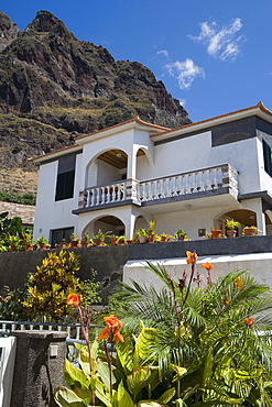 House with flowers, Paul do Mar, Madeira, Portugal