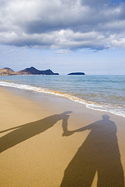 I Wanna Hold Your Hand, Shadow of couple holding hands on the beach, Porto Santo, near Madeira, Portugal