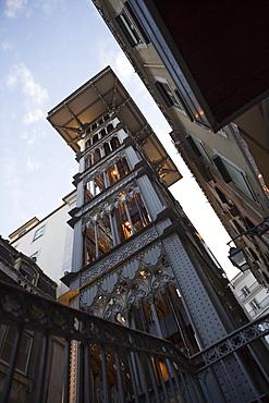 Santa Justa lift, Elevador de Santa Justa, Baixa, Lisbon, Lisboa, Portugal, Europe