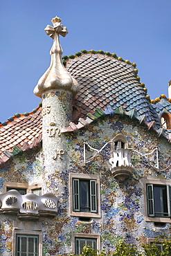 Gaudi's Casa Batllo, Passeig de Gracia, Barcelona, Catalonia, Spain