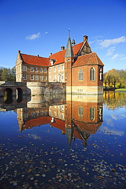 Huelshoff castle, Havixbeck, Muensterland, North Rhine-Westphalia, Germany