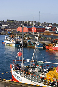 Fishing boats at harbour, Lerwick, Mainland, Shetland Islands, Scotland, Great Britain, Europe