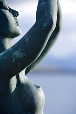 Sunlit sculpture aboard cruise ship MS Deutschland
