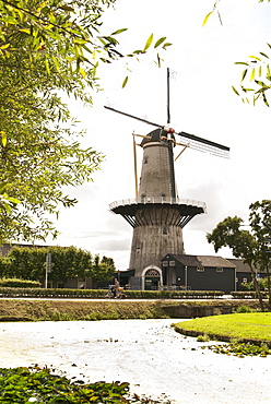 Traditional windmill, Westland, South Holland, Netherlands
