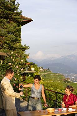 Winetasting, Lavaux, Canton of Vaud, Switzerland
