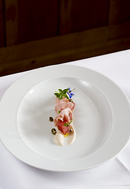 Vitello and tuna, Restaurant Mangold, Lochau, Lake Constance, Austria