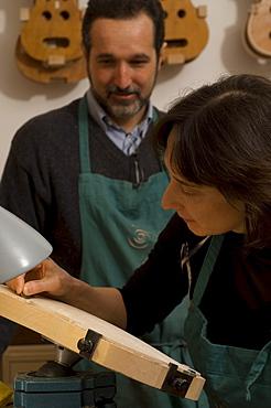 Workshop of Silvio Levaggi und Anna Tartari, Violin Makers, Cremona, Lombardy, Italy