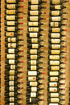 Wine cellar with vintage wines, Chateau Petrus, Palais Coburg, Vienna, Austria