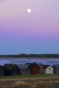 Sunset on Faro island, North coast, Gotland, Sweden, Scandinavia, Europe