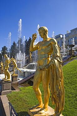Grand Cascade in Peterhof Palace, St. Petersburg, Russia
