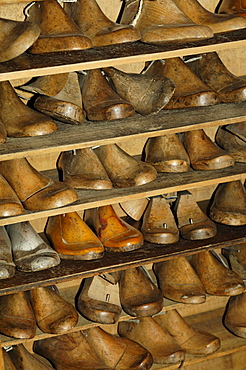 At the cobblers, South Tyrolean local history museum at Dietenheim, Puster Valley, South Tyrol, Italy