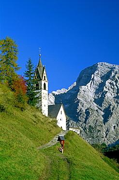Santa Barbara, near Wengen, La Val, Val Badia, Dolomite Alps, South Tyrol, Italy