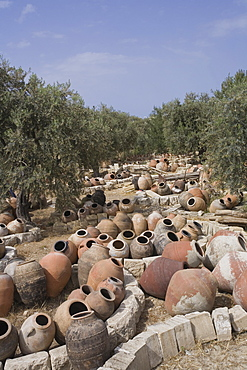 Pottery and ceramics, antique dealer, Kyrenia, Girne, North Cyprus, Cyprus