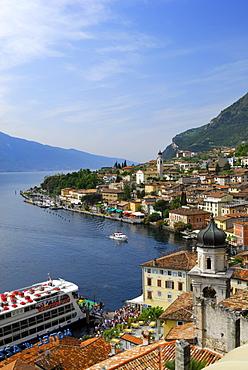 View over Limone sul Garda at lake Garda, Lombardy, Italy